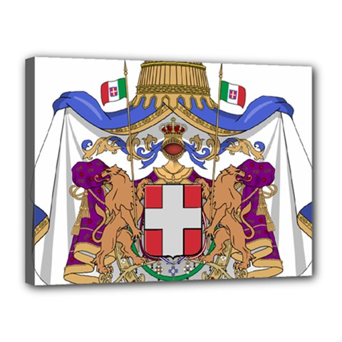 Greater Coat of Arms of Italy, 1870-1890  Canvas 16  x 12
