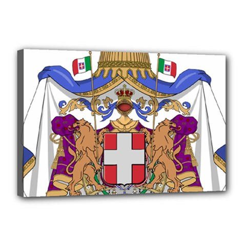 Greater Coat of Arms of Italy, 1870-1890  Canvas 18  x 12