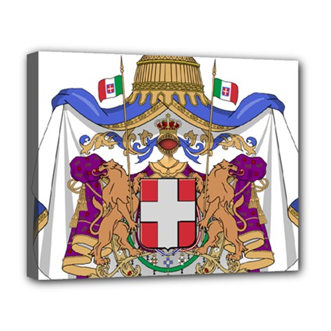 Greater Coat of Arms of Italy, 1870-1890  Deluxe Canvas 20  x 16