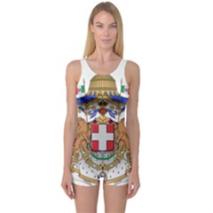 Greater Coat of Arms of Italy, 1870-1890  One Piece Boyleg Swimsuit
