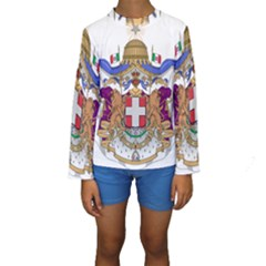 Greater Coat of Arms of Italy, 1870-1890  Kids  Long Sleeve Swimwear