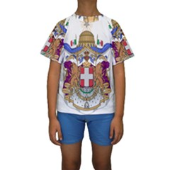 Greater Coat of Arms of Italy, 1870-1890  Kids  Short Sleeve Swimwear