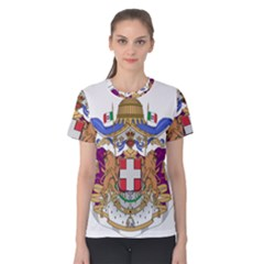 Greater Coat of Arms of Italy, 1870-1890  Women s Cotton Tee
