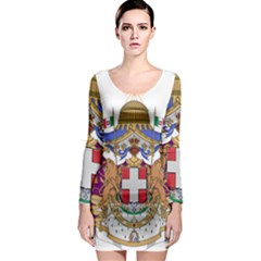 Greater Coat of Arms of Italy, 1870-1890  Long Sleeve Bodycon Dress