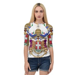 Greater Coat of Arms of Italy, 1870-1890  Quarter Sleeve Tee