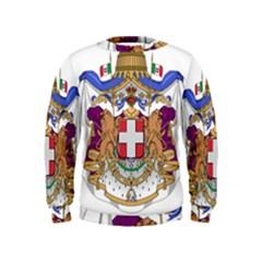 Greater Coat of Arms of Italy, 1870-1890  Kids  Sweatshirt