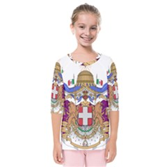 Greater Coat of Arms of Italy, 1870-1890  Kids  Quarter Sleeve Raglan Tee