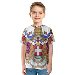 Greater Coat of Arms of Italy, 1870-1890  Kids  Sport Mesh Tee