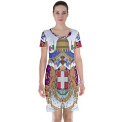 Greater Coat of Arms of Italy, 1870-1890  Short Sleeve Nightdress