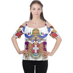 Greater Coat of Arms of Italy, 1870-1890  Women s Cutout Shoulder Tee