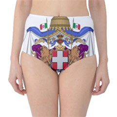 Greater Coat of Arms of Italy, 1870-1890  High-Waist Bikini Bottoms