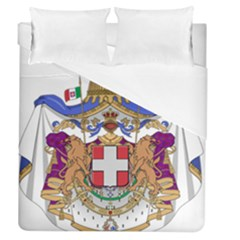 Greater Coat of Arms of Italy, 1870-1890  Duvet Cover (Queen Size)