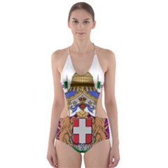 Greater Coat of Arms of Italy, 1870-1890  Cut-Out One Piece Swimsuit