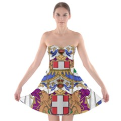Greater Coat of Arms of Italy, 1870-1890  Strapless Bra Top Dress
