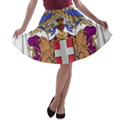 Greater Coat of Arms of Italy, 1870-1890  A-line Skater Skirt