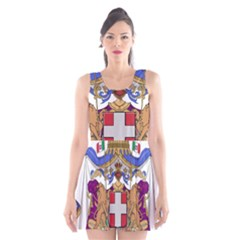 Greater Coat of Arms of Italy, 1870-1890  Scoop Neck Skater Dress
