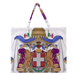 Greater Coat of Arms of Italy, 1870-1890  Zipper Large Tote Bag