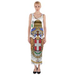 Greater Coat of Arms of Italy, 1870-1890  Fitted Maxi Dress