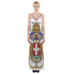 Greater Coat of Arms of Italy, 1870-1890  Maxi Thigh Split Dress
