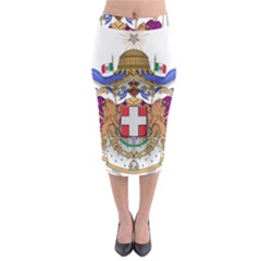 Greater Coat of Arms of Italy, 1870-1890  Midi Pencil Skirt