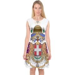 Greater Coat of Arms of Italy, 1870-1890  Capsleeve Midi Dress