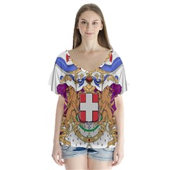 Greater Coat of Arms of Italy, 1870-1890  Flutter Sleeve Top