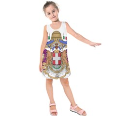 Greater Coat of Arms of Italy, 1870-1890  Kids  Sleeveless Dress