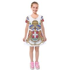 Greater Coat of Arms of Italy, 1870-1890  Kids  Short Sleeve Velvet Dress