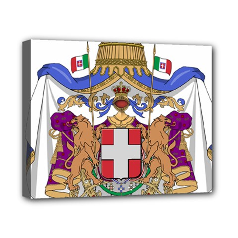 Greater Coat of Arms of Italy, 1870-1890 Canvas 10  x 8