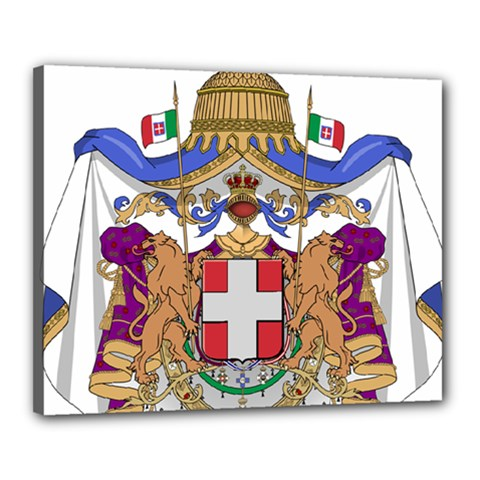 Greater Coat of Arms of Italy, 1870-1890 Canvas 20  x 16