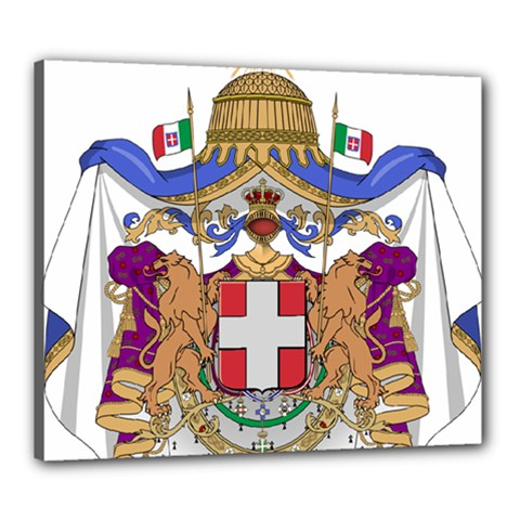Greater Coat of Arms of Italy, 1870-1890 Canvas 24  x 20