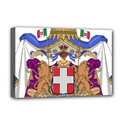 Greater Coat of Arms of Italy, 1870-1890 Deluxe Canvas 18  x 12