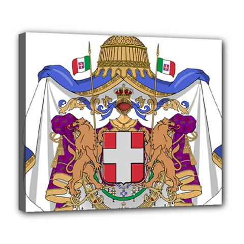 Greater Coat of Arms of Italy, 1870-1890 Deluxe Canvas 24  x 20