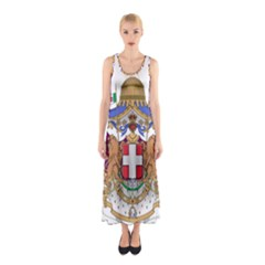 Greater Coat of Arms of Italy, 1870-1890 Sleeveless Maxi Dress