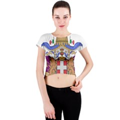 Greater Coat of Arms of Italy, 1870-1890 Crew Neck Crop Top