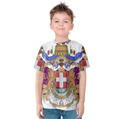 Greater Coat of Arms of Italy, 1870-1890 Kids  Cotton Tee