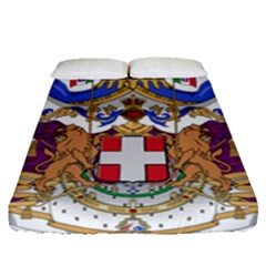 Greater Coat of Arms of Italy, 1870-1890 Fitted Sheet (Queen Size)