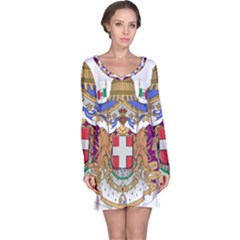 Greater Coat of Arms of Italy, 1870-1890 Long Sleeve Nightdress