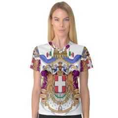 Greater Coat of Arms of Italy, 1870-1890 Women s V-Neck Sport Mesh Tee