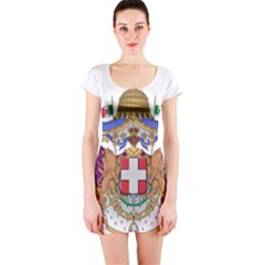 Greater Coat of Arms of Italy, 1870-1890 Short Sleeve Bodycon Dress