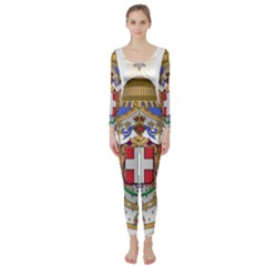 Greater Coat of Arms of Italy, 1870-1890 Long Sleeve Catsuit