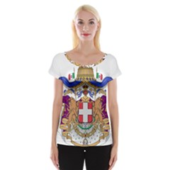 Greater Coat of Arms of Italy, 1870-1890 Women s Cap Sleeve Top