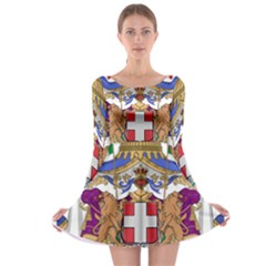 Greater Coat of Arms of Italy, 1870-1890 Long Sleeve Skater Dress