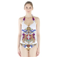 Greater Coat of Arms of Italy, 1870-1890 Halter Swimsuit