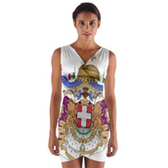 Greater Coat of Arms of Italy, 1870-1890 Wrap Front Bodycon Dress