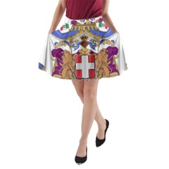Greater Coat of Arms of Italy, 1870-1890 A-Line Pocket Skirt