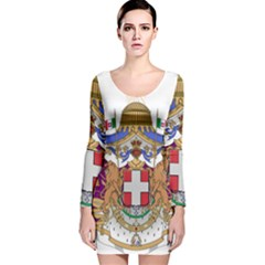 Greater Coat of Arms of Italy, 1870-1890 Long Sleeve Velvet Bodycon Dress