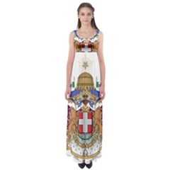 Greater Coat of Arms of Italy, 1870-1890 Empire Waist Maxi Dress