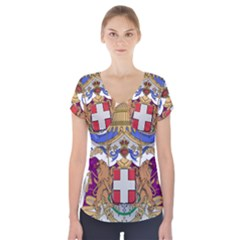 Greater Coat of Arms of Italy, 1870-1890 Short Sleeve Front Detail Top