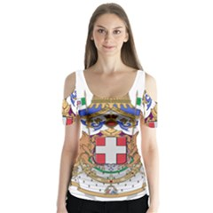 Greater Coat Of Arms Of Italy, 1870 1890 Butterfly Sleeve Cutout Tee